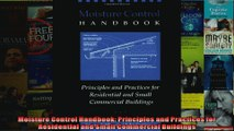 Read  Moisture Control Handbook Principles and Practices for Residential and Small Commercial  Full EBook