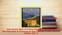 PDF  Just Great Wall of China Photos Big Book of Photographs  Pictures of the Chinese Great PDF Online