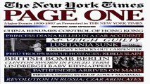 Download Page One  Major Events  1900 1997  as Presented in the New York Times