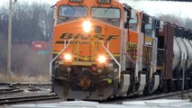 BNSF Ethanol Train with CSX Power Eastbound in Oregon IL HD