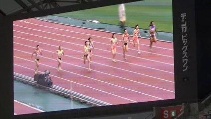 2015日本選手権 女子100m予選~決勝