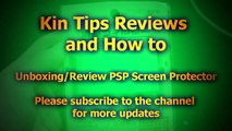 Unboxing Review Sony Playstation Portable PSP Screen Protector 1000 2000 3000 phat slim br