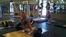 John Cena Training   Incredible strength with Cleans and front squats