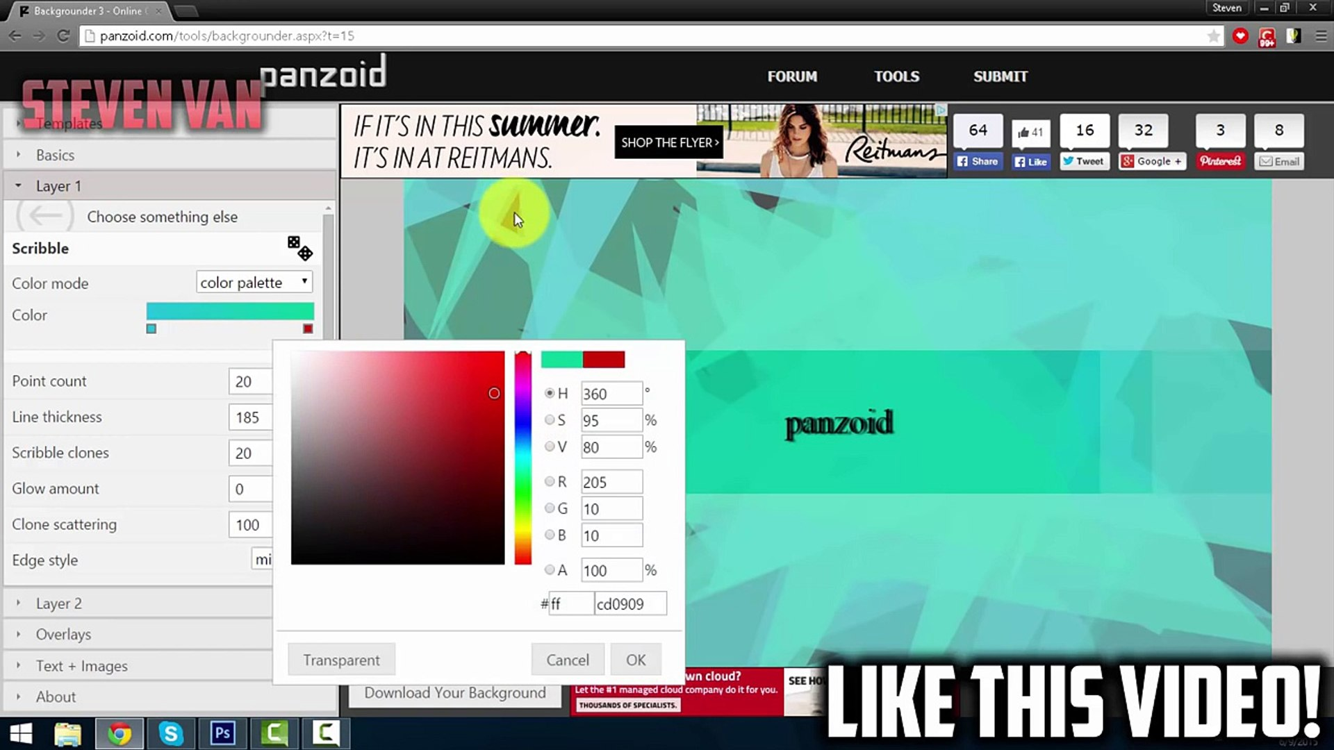 How to Make YouTube Channel Banner/Art Without Photoshop Tutorial! (2015/2016)