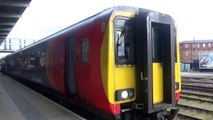 British Trainspotting - An East Midlands Trains Class 156 Leaving Derby going South