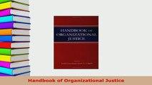 PDF  Handbook of Organizational Justice Download Online