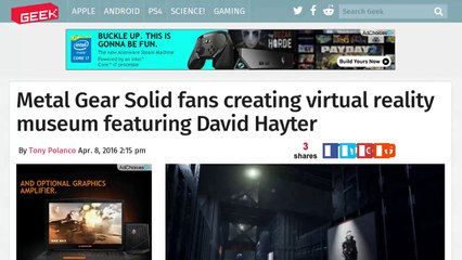 Metal Gear Solid Fans Create Virtual Museum