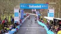 Tour du Pays Basque - Diego Rosa finit l'étape... en portant son vélo !