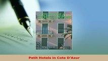 Download  Petit Hotels in Cote DAzur Free Books