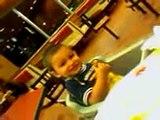 kid dancing at mcdonalds and choking