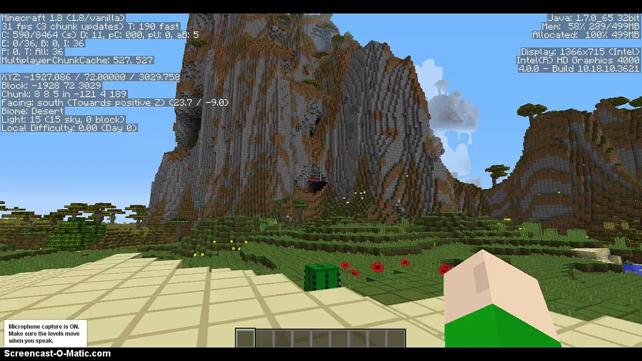 Minecraft Epic 1 8 Seed! Desert Temple, Cross Oasis, and Savannah Mountains!