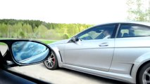 Mercedes C63 AMG Black Series Coupe vs BMW M3 Coupe 6 speed