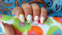 2014 BPS NailArt Contest Entry #5:Cute Easter Bunnies With Pastel Chevrons by LovelyNailNHairstyle