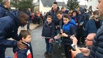 Les joueurs du PSG au contact de leurs fans