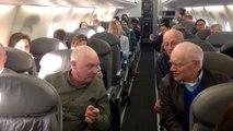 Дедушки отожгли на борту самолета