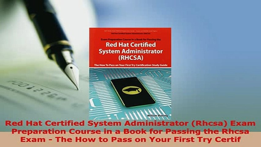 PDF Red Hat Certified System Administrator Rhcsa Exam Preparation Course in  a Book for EBook