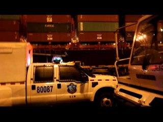 Persecución y tiroteo tras robo de blindado