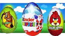 Finger Family Kinder Surpise Eggs Angry Birds Peppa Pig Mickey Mouse