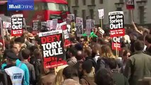 UK protesters mobilise to call on David Cameron to resign