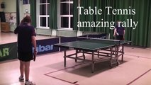 Amazing table tennis rally between Dan and Steve Pound