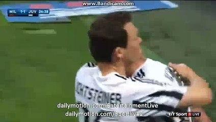 Mario Mandžukić 1:1 | Milan 1-1 Juventus Serie A