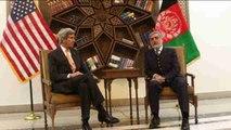 Kerry llama a los talibanes afganos a acabar con catorce años de guerra