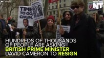 Thousands Protest In London Asking David Cameron To Resign