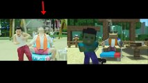 SIDE BY SIDE VIEWER PSY-Gagnam Style(강남스타일) V.S. Diggin Minecraft Style