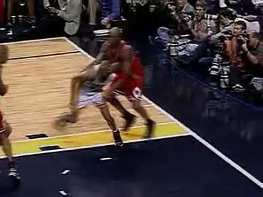 NBA Fights  Reggie Miller Vs Michael Jordan