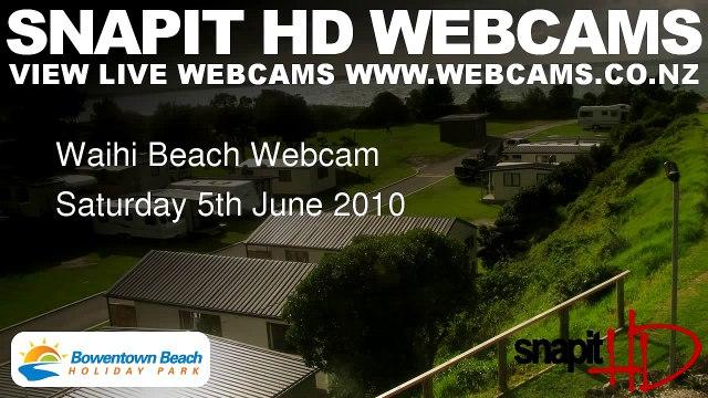 Waihi Beach Webcam Saturday 5th June 2010