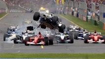 Ralf Schumachers massive crash  F1 2002 Melbourne Grand Prix