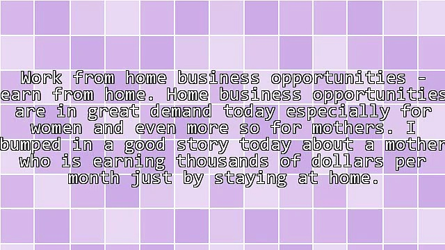 Women's Choice – Home Business Opportunities