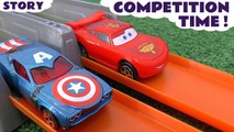 RACE DAY! Who will win? Knockout Tournament with Minions judging! Funny Video of a toys competition time starring Disney Cars, Hot Wheels, Spiderman, The Avengers, Star Wars, Batman, Minions, Hulk, Lightning McQueen, Captain America, TMNT and many more!