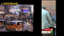 Kurds celebrate after Rejeb Tayeb Erdogan was  unsuccessful in election