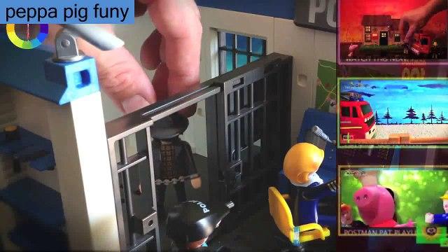 New Playmobil English Episode with Toys. Fireman Sam Postman Pat Peppa Pig 2015