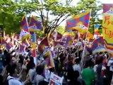 Save Tibet Network & TSNJ主催 「チベットを救え!」デモ at 原宿 08/5/6 16:55