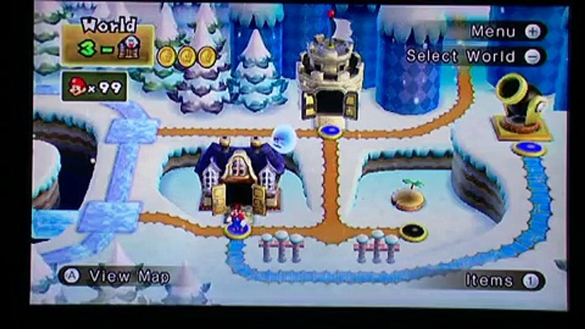 Super Mario Bros Wii World 3 Ghost House Secret Exit 480p