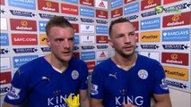 Sunderland 0-2 Leicester City Jamie Vardy and Daniel Drinkwater Post Match Interview