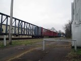 CSX mixed freight train