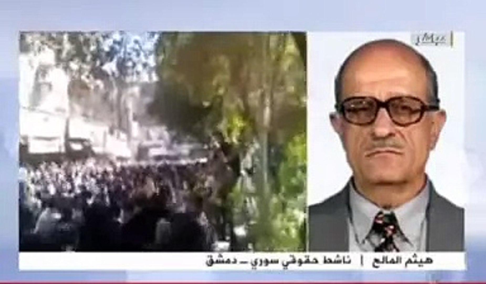 Aljazeera  تعليق المحامي هيثم المالح على  الاسد  ج3 16.04.2011-