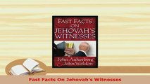Download  Fast Facts On Jehovahs Witnesses  EBook