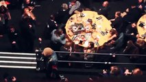 Oli Sykes (Bring Me The Horizon) Destroys Coldplay's Table at NME Awards.