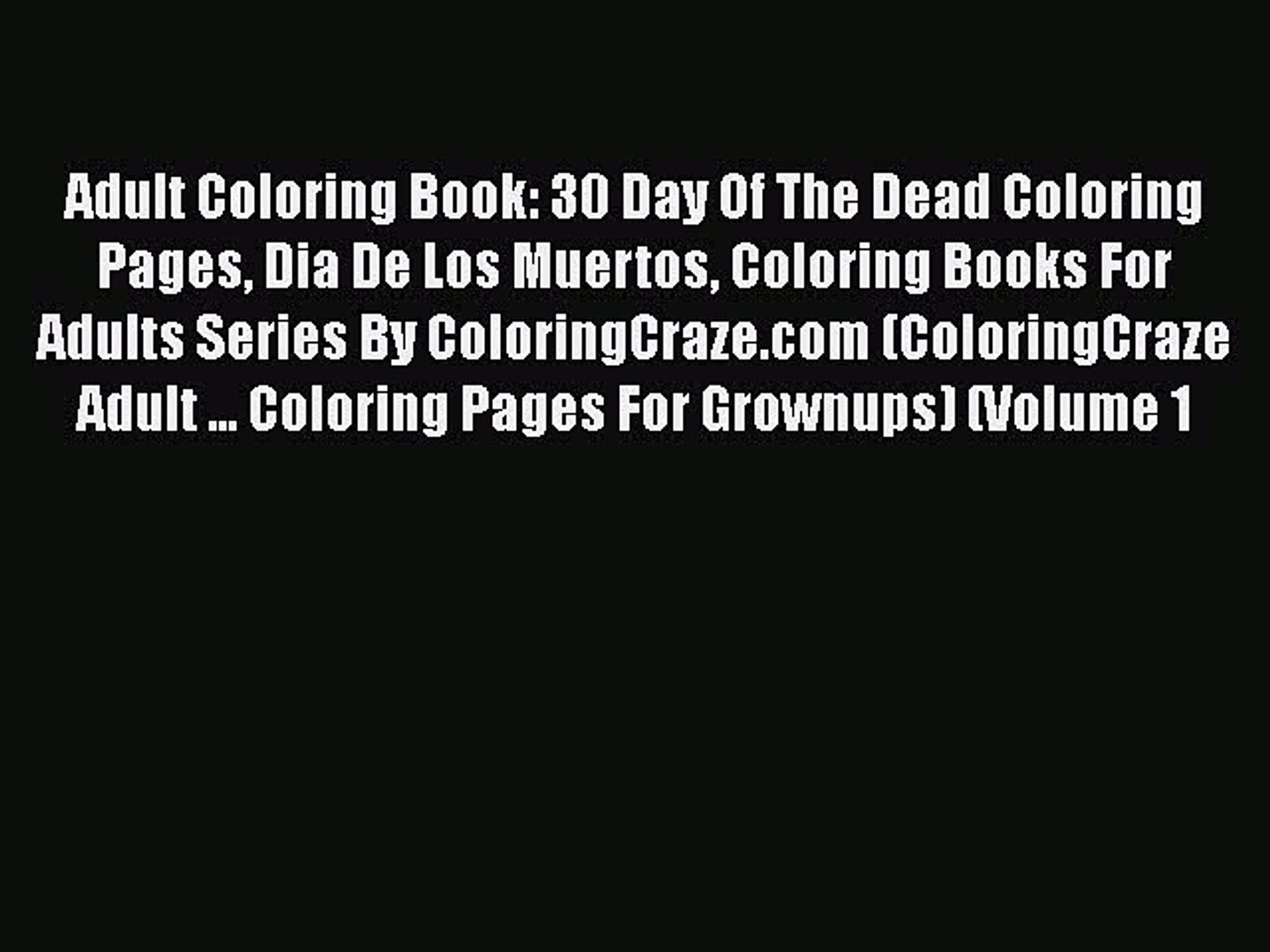 Sugarull Coloring Book Pages And Masks For Dia Muertos Free ...   1080x1440