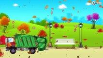 Camion poubelle, Camion, Camion de pompiers. Dessin animé voiture.Tiki Taki Voitures