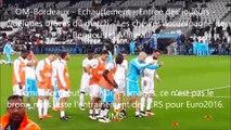 OM-Bordeaux-Echauffement-Les chévres-Bengous-Entree des joueurs-CRS-Bréves du match-René malleville-10/04/2016-Marseille