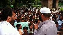 Zaffar Akber Bhat on the occasion of Youm Qoduss & youm kashmir at Kulgam