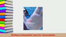 PDF  McNaes Essential Law for Journalists Read Online