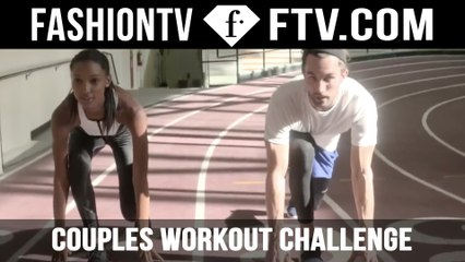 The Ultimate Couples Workout Challenge - Jasmine Tookes | FTV.com