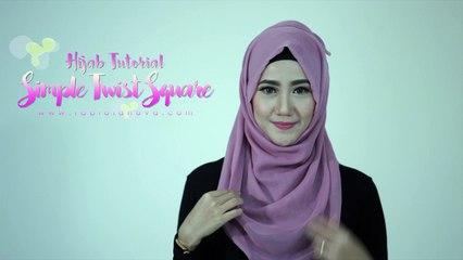 Tutorial Hijab Simple Segi Empat