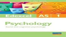 Download Social   Cognitive Psychology  Edexcel As Psychology Student Guide  Unit 1  Student Unit